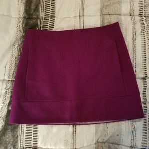 J. Crew lined wool blend purple mini skirt